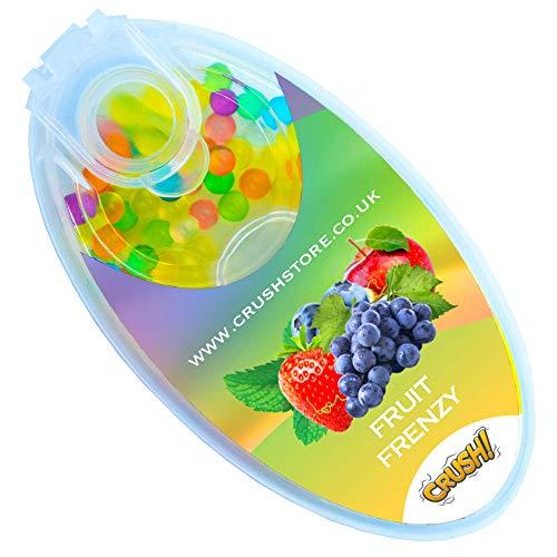 Menthol Cigarette Crush Balls, 100PCS Portable Mini Mint, Menthol Aroma Capsules, Ball Shape Explosion Beads for DIY 100PCS, Many Flavours Balls Available (Mixed Fruits)
