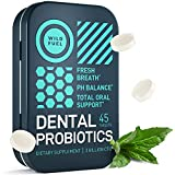 Dental Probiotics for Fresh Breath - Fights Bad Breath, Restores Healthy Bacteria - Wild Fuel Vegetarian Cruelty-Free Oral Health Support - 45 Sugar-Free Chewable Mint Tablets in a Handy Travel Tin