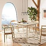 Safavieh Home Tia Modern Antique White Dining Table