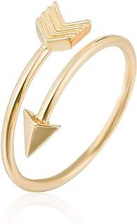 GD GOOD.designs EST. 2015 Arrow Ring I Anello Regolabile da Donna in Elegante Forma di Freccia Arrow