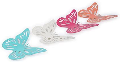 Elan Esmeralda Butterfly Fridge Magnets/Magnetic Springtime Butterflies - Magnet Metal Butterfly -2INCH Each Approx, Multicolored, Metal, Pack of 4