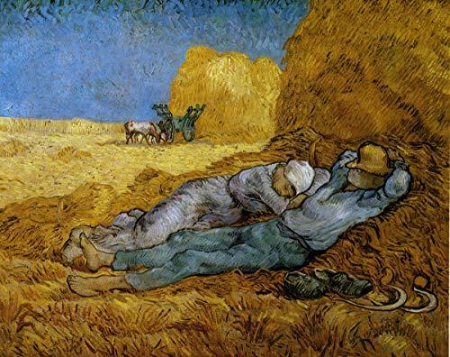 AEnpek 5D DIY Dessin au Diamant Répliques de la célèbre série de peintures 34 de Van Gogh 5d Diamant Peinture kit mosaïque, Point de Croix Strass Rond Résine et Toile Préimprimée 40X50CM(sans Cadre)