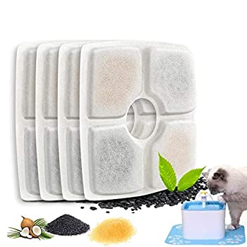 FASOON Pet Fountain Filters Replacement Filters for Cat and Dog Drinking Flower Fountain Cat Water Fountain Dog Water Dispenser Square Filters - Amazon Vine