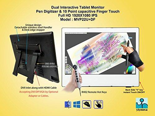 Yiynova MVP22U(V3)+RH Full HD Tablet Monitor,IPS Panel, DVII Digital Input (Mac & Windows & Linux)
