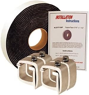 API KH1P4-LDTT150P Mounting Clamps & Topper Tape® for Truck Caps / Camper Shells (Set of 4)