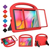 BMOUO Kids Case for Samsung Galaxy Tab A 10.1 (2019) SM-T510/T515 - Built-in Screen Protector, Shockproof Light Weight Handle Friendly Kids Case for Samsung Galaxy Tab A 10.1 inch 2019 - Red