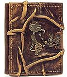 Libreta de piel con diseño de gato, diario, páginas en blanco, marrón, álbum de poesía,...