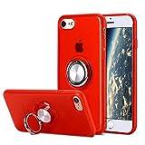 SORAKA Funda Transparente para iPhone 6 Plus iPhone 6S Plus con Anillo Giratorio de 360 Grados y Placa de Metal Compatible con Soporte Móvil Coche Magnético Ultradelgado Carcasa de TPU Suave