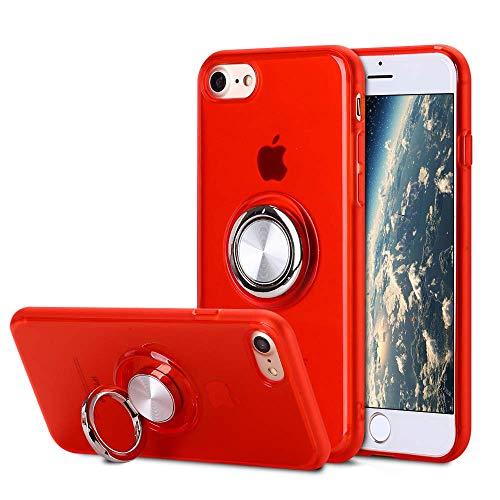 SORAKA Cover trasparente per iPhone 6 Plus iPhone 6S Plus con anello girevole 360 Custodia molle trasparente di TPU di adatto esile compatibile con il supporto magnetico del telefono per l'automobile
