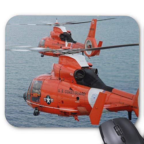Accesorios de ordenador anti-fricción pulsera Coast Guard Helicópteros Mouse Pad 18X22