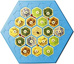 Settlers of Catan Compatible Game Board - Catan Works with 3-4 Player Set and 5-6 Player Extension Settlers Games - You Can Now Keep Your Catan Pieces in Place, Play Anywhere You Like