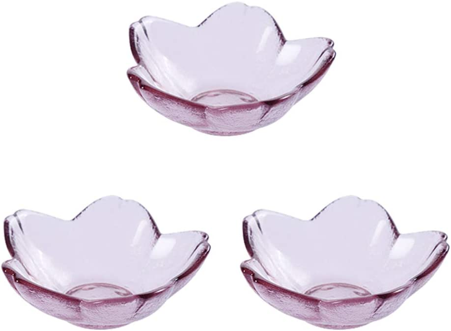 Yardwe 3pcs Limited time cheap safety sale Seasoning Dishes Cherry Sushi Blossoms Dipping Shape
