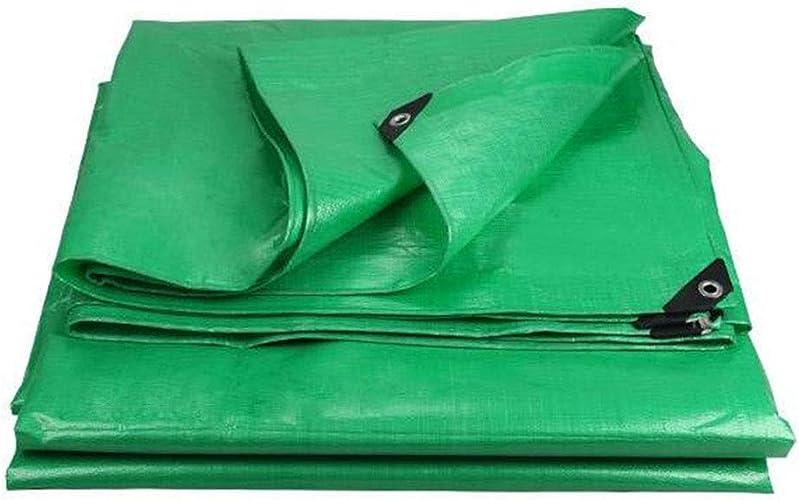 QXX La bache Polyvalente imperméable Forte pour l'usage extérieur Couvre Le Camping en Bois Vert 180g   m2 (Taille   4x6m)