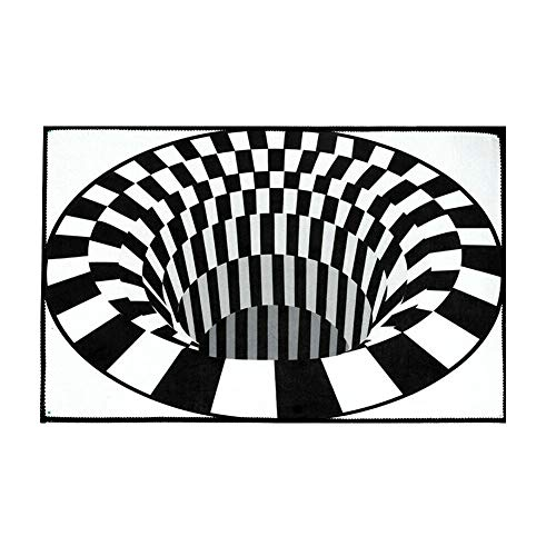 Abracing 3D Swirl Print Optische Täuschung Teppich Teppichboden Pad rutschfeste Fußmatte Matten Home Schlafzimmer