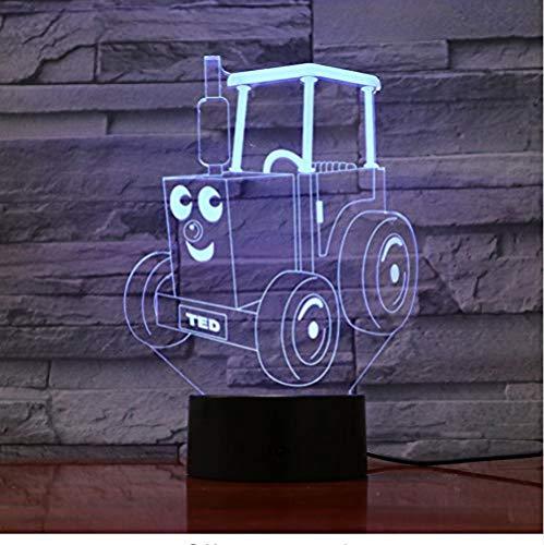3D visualOptical Illusion Lamp Led Locomotief 3D Illusie Kinderen Trein Spoorlijn Motor Tafellamp Slaapkamer Gadget AcrylicNight Licht