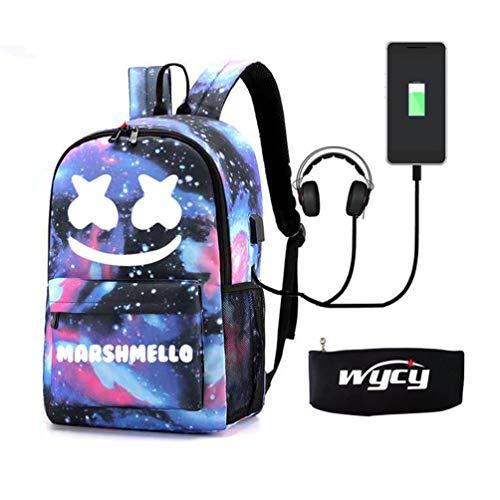 WYCY Mochila Luminosa Mochila Escolar para Estudiantes Mochila Escolar de 35L con Puerto de Carga USB Línea de Audio y Bloqueo de contraseña Mochila Primaria Unisex para niñas y niños