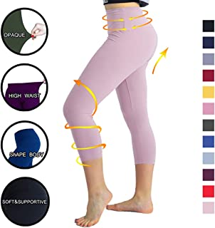 TNNZEET High Waisted Printed Leggings for Women - Buttery Soft Pattern Capri Pants for Daily Workout Party Regular & Plus