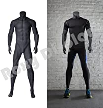 (MZ-NI-2) ROXYDISPLAY™ Eye Catching Male Headless Mannequin, Athletic Style. Standing Pose with Straight arms.