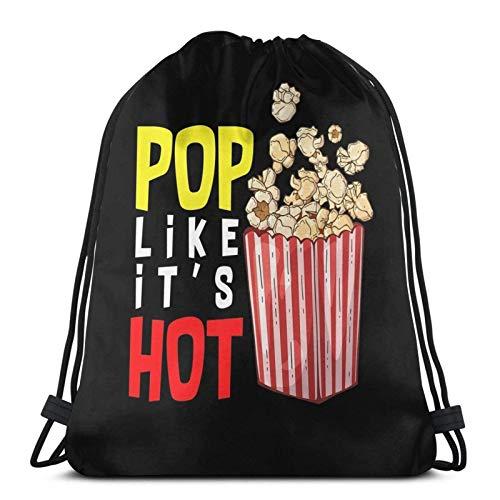 Pop come il suo caldo popcorn salato o sudore per il tuo cinema Film Avventura Sport Sackpack Zaino con coulisse Borsa da palestra Sacco