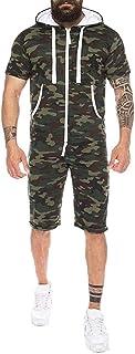 HaiDean Men's Summer Jumpsuit Bodysuit Suit Jumpsuit Camouflage Casual Modern Overalls Men Short Jumpsuit Playsuit Streetwear