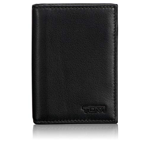 TUMI - Delta Gusseted Card Case Wallet with RFID ID Lock for Men - Black