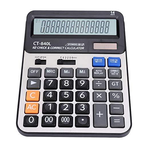 ASHATA 14-bits display rekenmachine met grote knop ABS-dual voeding, solar energy, desktop rekenmachine voor kantoor, enz.