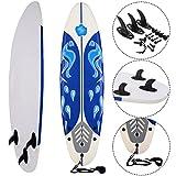 COSTWAY Surfbrett Surfboard Stand Up 6' Funboard Shortboard Wellenreiter 182x 50x 8cm Farbwahl (Weiss)