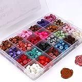 Xiangmall 672 Piezas Sellos de Lacre 24 Colores Cera Lacre Octagonal para Sobres Cartas Postales Boda Invitaciones de Boda Carta Amor (672 PCS)