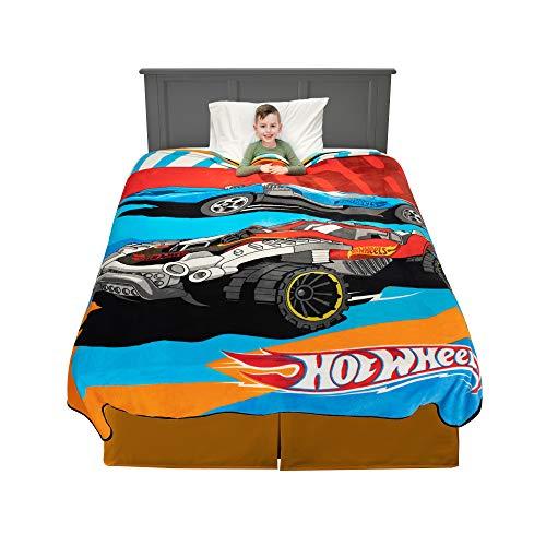 Franco Kids Bedding Super Soft Plush Blanket, Twin/Full Size 62' x 90', Hot Wheels
