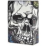 AmaMary 1 pcs Plastique étui à Cigarettes crâne créatif avec boîte à Cigarettes à Couverture Automatique Contient 20 Cigarettes (A)