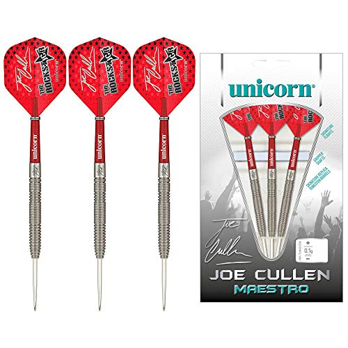 Unicorn Joe Cullen Maestro 90 Percent Tungsten Dartpfeile mit Stahlspitze, rot, 23 g