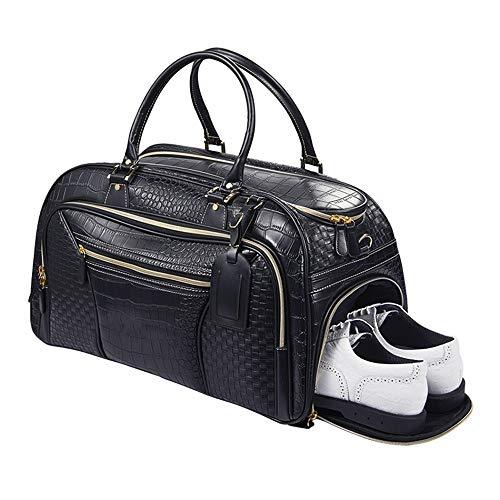 DHTOMC Gimnasia Bolsa de Deporte Ropa Impermeable y Transpirable Bolsa de Golf de Gran Capacidad del Bolso Bolsa de Viaje de la Aptitud para Gym Viajes Deportes (Color : Black, Size : One Size)