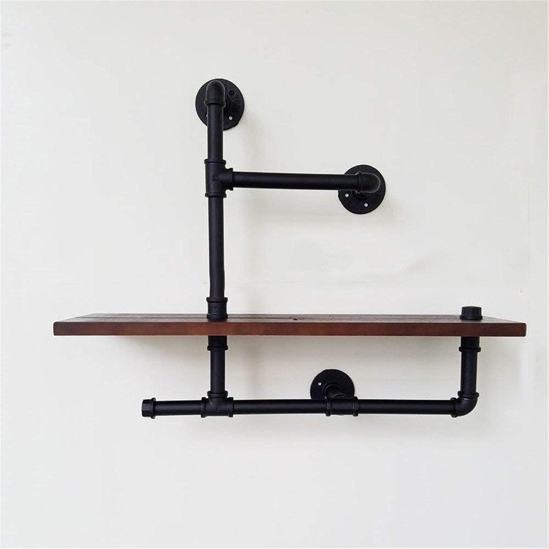 Storage Shelf Iron Pipe Wall Retro Racks Minimalist Solid Wood so Old Shelf,f-board5020cm Home Stand (color   C-Board6520cm)
