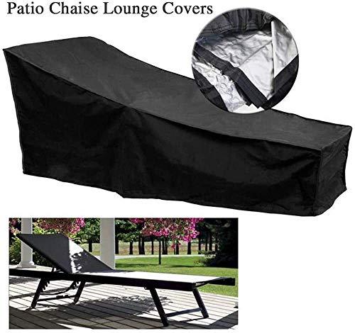 Funda de protección para objeto, silla de patio, impermeable, para salón, protector, exterior resistente, resistente a la prueba de viento, antirrayos UV, 82 pulgadas, color negro
