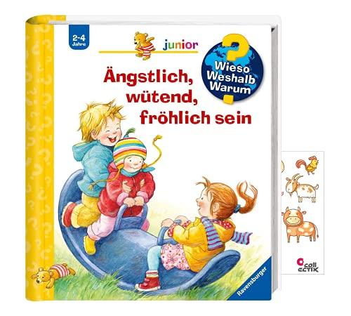 Preisvergleich Produktbild Buchspielbox Wieso Weshalb Warum Junior. Ängstlich,  wütend,  fröhlich Sein + Tiersticker