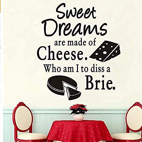 Muursticker Muursticker behang Ins Cuisine Sweet Dreams kaas brie cake patroon vinyl decor keuken wandtegel stickers 58 * 67cm