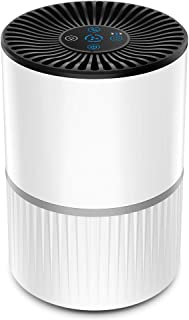 AQielev 空気清浄機 小型 ~10畳 脱臭 静音 タバコ 花粉 PM2.5対策 ホコリ除去 空気清浄器 3段階風量/タイマー設定 高性能4層フィルター イオン発生 アロマ対応 夜間ライト付き ホワイト