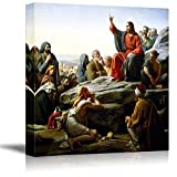 wall26 - The Sermon on The Mount by Carl Heinrich Bloch - Canvas Print Wall Art Famous Painting Reproduction - 24' x 24'