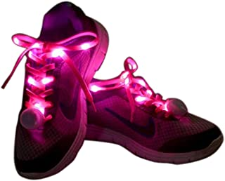 Flammi LED Nylon Shoelaces Light Up Glow in the Dark for Party Dancing Skating