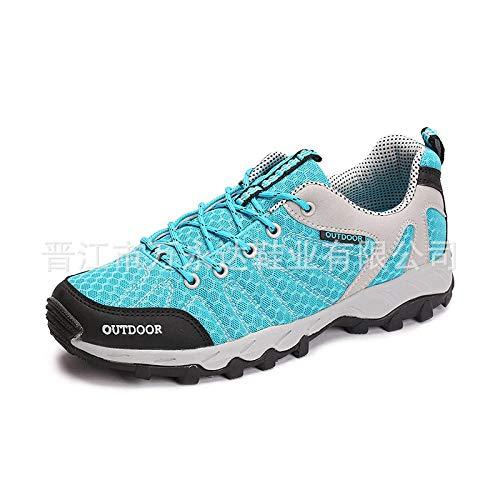 Men's Running Shoes,Zapatos de gimnasia Zapatos ligeros,Zapatos para caminar al aire libre,zapatos deportivos,transpirable,antideslizante,resistente al desgaste,superficie de malla-Lake Blue_44 #