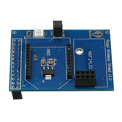 Vpqtettuecu Modulo Scheda di schermatura Wireless Parte Fai-da-Te for Supporto Raspberry Pi Zigbee-Xbee NRF24L01 NRF24L01 + RFM12B-D