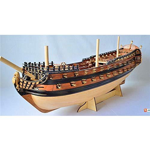 YAOHM Modelo versión Nueva Escala 1/50 clásica Rusa Modelo de Barco de Madera Kit Ingermanland 1715 Modelos de Barcos de Madera SC Modelo
