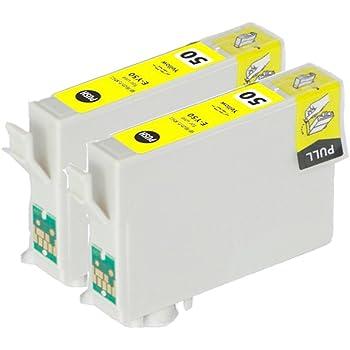 【Ecolink】EPSON用 エプソン IC6CL50対応 ICY50 イエロー単品2個セット IC50系 互換インクカートリッジ