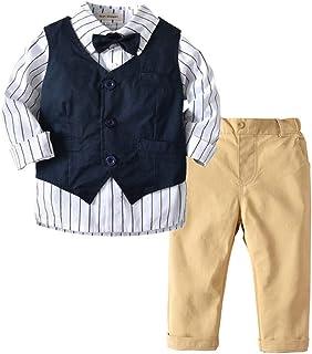 JKTOWN ボーイズ 男の子 フォーマル スーツ シャツ ズボン ベスト 3点セット キッズ 入学式 入園式 発表会 結婚式 七五三 撮影