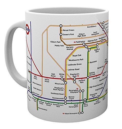 GB Eye Ltd Transport for London, Carte du métro, Mug, Divers, en CÉRAMIQUE, 15 x 10 x 9 cm