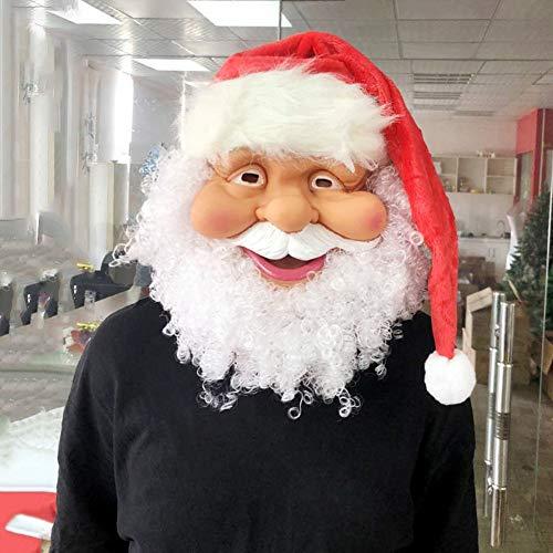 Sinterklaas masker met baard en muts, masker kerstman, een feestelijke sfeer toevoegen, beroep voor kerstfeesten, decoratie