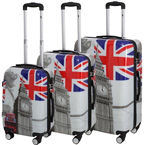 P-Collection Koffer Trolley Handgepäck -Set Motiv (Big Ben, 3er Set)