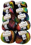 Ilkadim YarnArt Harmony - Ovillo de lana (10 ovillos de 50 g, 500 g), multicolor
