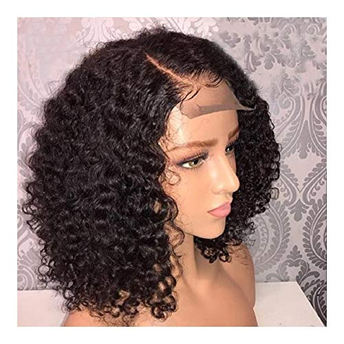 LEZDPP Wig Lace Front Wig Short Curly Lace Front Human Hair Wig Preview 13X4 13X6 Black Women Hairpieces (Size : 16 inches)