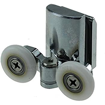 Rodamientos para mampara de ducha YuanQian, de acero inoxidable, 23 mm, para la parte inferior de la ducha, 4 piezas: Amazon.es: Bricolaje y herramientas